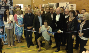 Jamie McDonald Opens Beaufort Cooperative School Jobs Fair with Richard Graham MP and The High Sheriff of Gloucester.